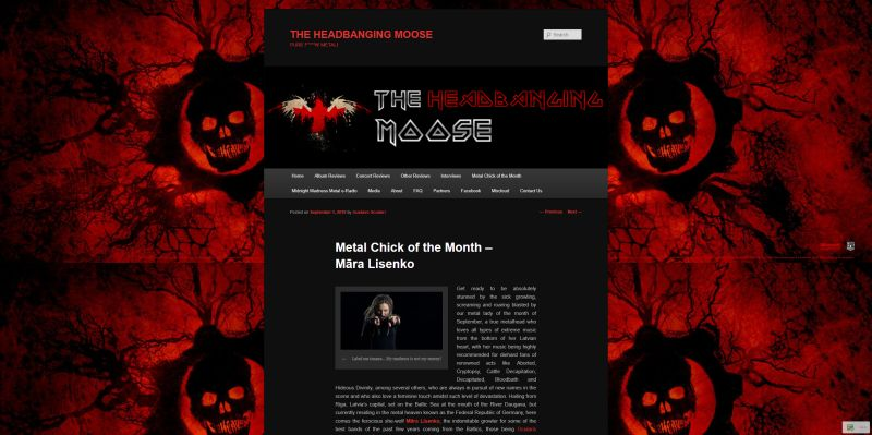 Review Mara Lisenko, The Headbanging Moose 2019 09 01