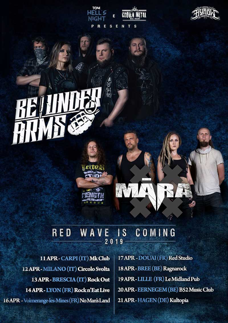 MĀRA European Tour 2019 with Be Under Arms
