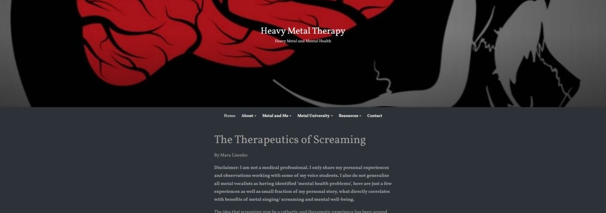 Mara Lisenlo Article on Heavy Metal Therapy Blog